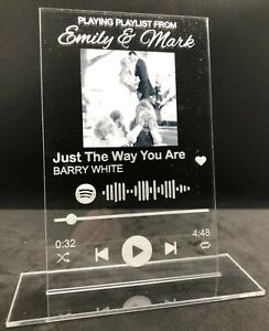 Personalised Spotify Scannable Song Track Plaque With Your Choice Photo