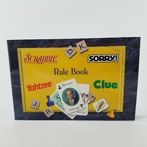 Scrabble Sorry Yahtzee Clue Replacement Family Game Night Rule Book 40796