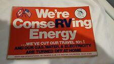 "Good Sam Club 1977 Bumper Sticker, ""We're ConseRVing Energy"""