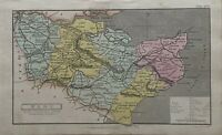 1808 Kent Original Antique Hand Coloured County Map 212 Years Old
