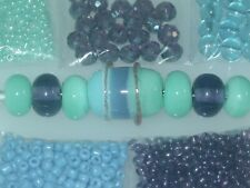 Periwinkle Purple Goldstone Handmade Lampwork Glass Crystal Seed Bead Lot 4018