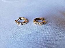 ESTATE EARRINGS  GOLD DIAMONDS