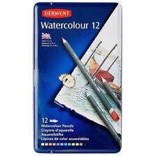 Derwent Watercolor 12 Pencil Metal Tin Set