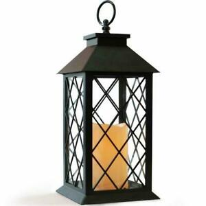 Decorative LED Lantern with Flameless Candle Trellis Window Design Wedding NEW