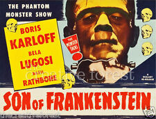 SON OF FRANKENSTEIN 1953 Vintage Movie Poster Repro Rolled CANVAS PRINT 30x24 in