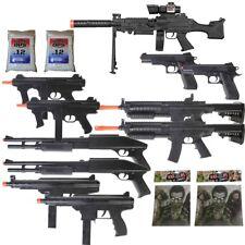 11 Gun P2338 Sniper Rifle Package  + Shotguns + Pistol + Tec9 SMG + Targets BBs