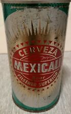 Mexicali Cerveza Wide Seam Steel Beer Can - Straight Steel - Bottom Opened