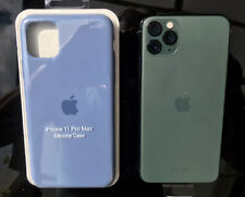 Genuine Apple iPhone 11 Pro Max Silicone Case Boxed & New - Alaska Blue Colour