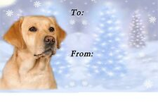 Labrador Retriever Christmas Labels by Starprint - No 1