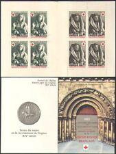France 1973 Red Cross/Medical/Health/Welfare/Art/Religion/saints 8v bklt b4479m