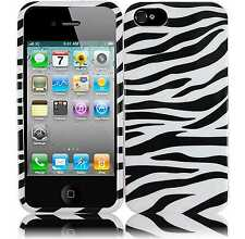 For Apple iPhone 5 5S SE HARD Protector Case Snap On Phone Cover Zebra