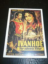 IVANHOE, film card [Robert Taylor, Elizabeth Taylor, Joan Fontaine]