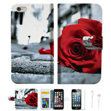 Blooming Rose Wallet  Case Cover For Apple iPhone 6 6S -- A011