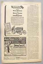 Original 1927 Wallis 15-27 Tractor Ad Scarce Ad by the Case Plow Works Racine WI