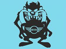 Taz adhesivo con el logotipo Mini Cooper Lado parachoques posterior ventana Pegatina Ventana de Coche DYI T30