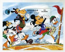 Disney Stamps mini-sheet : Anguilla 1984 LA Olympics  NO RINGS