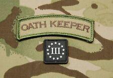 Oath Keeper Tab 3% Ranger Eye Set III Percent Multicam Morale Patch VELCRO®
