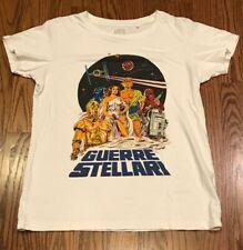 Guerre Stellari UT Uniqlo Women's Star Wars Rare Retro T-Shirt Disney Italian M
