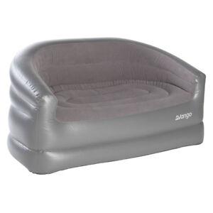 Vango Inflatable Flocked Sofa Settee - Grey