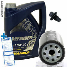 Ölwechsel Service Set 5 Liter 10W-40 Öl Motoröl + Ölfilter + Ablassschraube