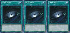 3x Yugioh YSYR-EN025 Dark Hole Common Card