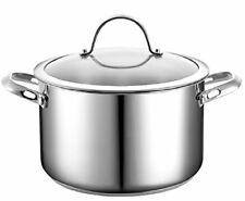 Cooks Standard Stainless Steel POT STOCK 6-Qt with Cover Cookware Boiler Cooking
