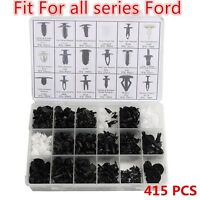 415pcs Trim Clip Retainer Panel Bumper Fastener Kit Set For Ford TREE ASSORTMENT