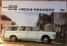 Peugeot 404 Estate Car Brochure - 1968 - Very Good Condition