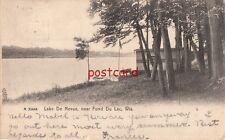 1907 FOND DO LAC WI Lake De Nevue, Rotograph, boathouse