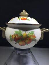 potpourri pot Brass And Enamel Vintage