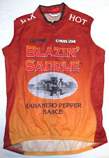 BLAZIN' SADDLE HOT SAUCE Cycling Jersey WOMEN L Pearl Izumi Sleeveless Pepper