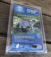NEW Petsafe Come With Me Kitty Harness Silver Black Medium