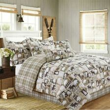 Cabin Pine Bear Pine Lodge 7 Piece Bed In A Bag Comforter Sets, Choice - New