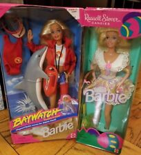 1999 Baywatch TV Show Barbie w. Dolphin & 1996 Russel Stover Candies Lot