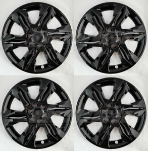 """18"""" Black Wheel Skins / Covers / Hubcaps (Set of 4) FOR 2019 20 21 Chevy Blazer"""