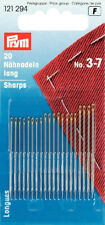Hand Sewing Needles Long Sharps size 3 - 7 .