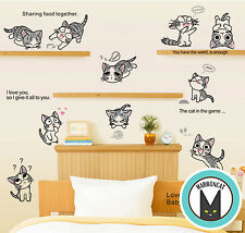 Cartoon Home Decor Wall Removable Sticker Vinyl Cute Cheese Cat Chi's Sweet Home