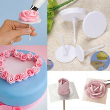4pcs Cake Flower Nails Decorating Holder Cupcake Icing Cream Stand DIY Tool Mold