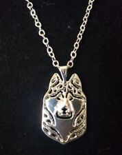 Alaskan Malamute Dog Cute Necklace, Pendant, Chain 18""