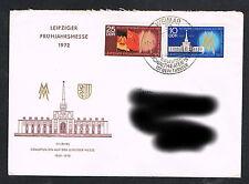 DDR Ersttagsbrief FDC echt gelaufen1743-1744 Leipziger Messe  (139)