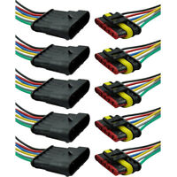5X 6-Polig Kabel Set KFZ Steckverbinder Stecker Wasserdicht Steckverbindung