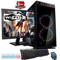 AMD RYZEN 2600 EIGHT CORE 3.6GHz GTX 1650 4GB  23.6'' Gaming PC Bundle up213