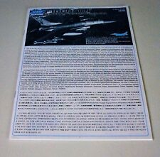 ACADEMY F-16CG/CJ FALCON 12101 PARTS *INSTRUCTION MANUAL* 1/32