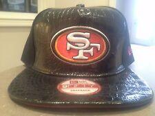 2014 San Francisco 49ers Leather Mascot 9Fifty NEW ERA Snapback Flat Bill Hat!