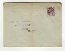 France 1 timbre type blanc préoblitéré sur lettre 1922/47 /L605