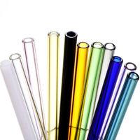Straight Pyrex Glass Straws Drinking Tube Reusable Straw new