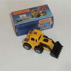 Matchbox Superfast 29 Tractor Shovel with Original Box