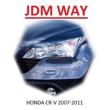 Eyebrows Eyelids Headlight Cover Honda CR-V 2007-2011 Unpainted 2 pcs