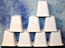 """Bed Risers / Furniture Risers Heavy Duty WHITE - 6""""Height Lift - QTY 8"""