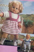 """Knitting Pattern Baby Dolls Clothes Boy & Girl 16-20-24"""" Double Knit"""